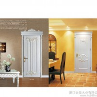 简约欧式白色雕刻门 手动复合实木平开门 隔音卧室木门整套门
