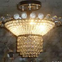 现代水晶吊灯 大厅圆形水晶灯卧室餐厅灯吸顶圆球水晶灯