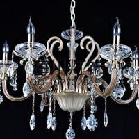 古镇厂家批发奢华欧式蜡烛水晶吊灯客厅灯饰灯具餐厅卧室水晶灯