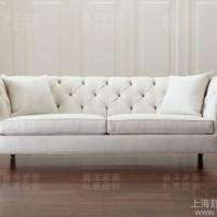 定制\n            美式乡村白色棉麻布艺沙发欧式小户型单人双人三人位简易沙发