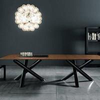 怀旧新颖LOFT风格铁艺实木会议桌餐桌书桌办公桌条桌写字桌 定做