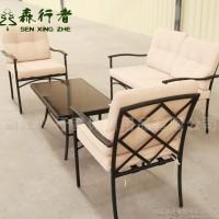 定制金属沙发组合套装 酒店别墅花园户外沙发四件套