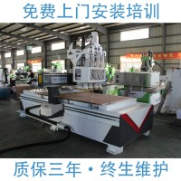 鲁雕数控开料机 四工序开料机 板式家具生产线开料机 装饰板材镂空雕刻