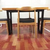 美式铁艺实木餐桌椅办公桌电脑桌椅组合复古咖啡桌简约书桌会议桌
