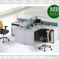 供应丨上海办公家具厂家丨职员简易工作位二人办公桌组合,办公屏风位