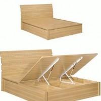 现代时尚简约卧室板式家具金丝柚木系列床811