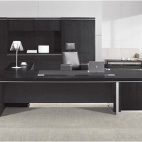**板式大班台、黑浮雕老板桌、经理主管桌、时尚新款老板办公桌