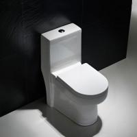 潮州卫浴洁具 装修单孔抽水陶瓷坐便器马桶 超漩式座便器座厕