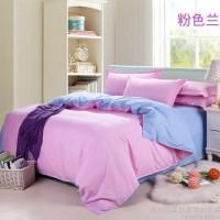 2014新款纯色双拼四件套 被套床单 批发四件套 厂家特价直销