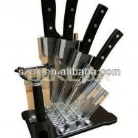 厂家生产定做 亚克力有机玻璃创意四件套刀具刀架透明刀座