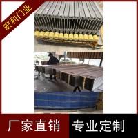 深圳水晶折叠门同城免费测量安装商铺透明隔断防盗推拉门
