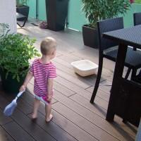 空心实心木塑地板  直销 塑木地板价格 力森木塑 户外地板