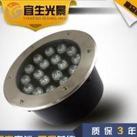 工厂直销LED地埋灯18W大功率圆形led埋地灯户外园林地灯投射灯