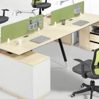 品牌办公家具屏风工作位现代简约四人组合桌员工办公桌休闲时尚