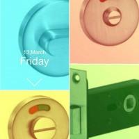画宇直销精铸SUS304浴室门锁 红绿按钮拧手锁配小黑锁体 工程